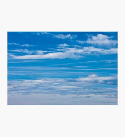 Cloud Streaked Blue Sky Photographic Print