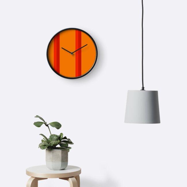 Orange Minimalist Retro Pattern by IdeasForArtists