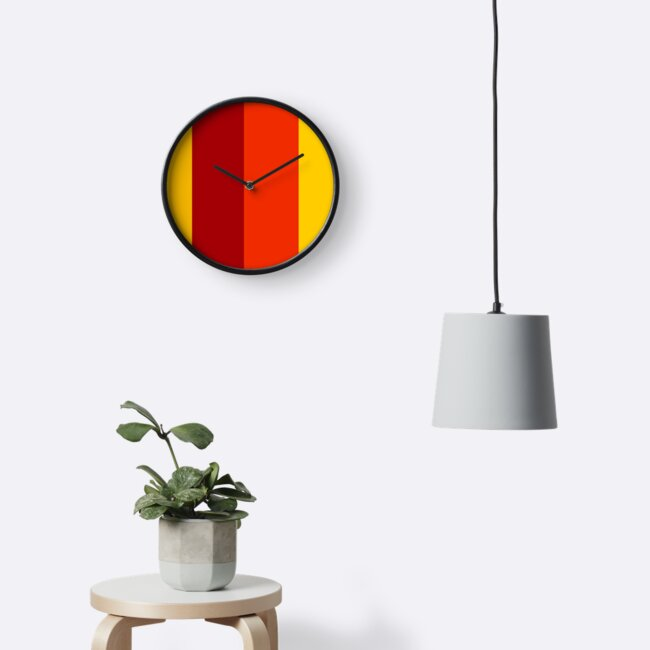 Red - Orange - Yellow Minimalist Retro Pattern by IdeasForArtists