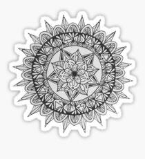 Black and White Mandala Pattern Sticker