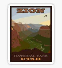Zion NP Poster Sticker
