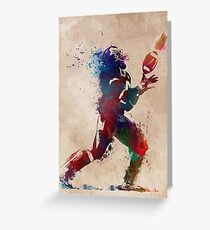 American football player 2 #sport #football Greeting Card