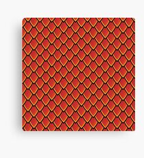Dragon Scales (Red) Canvas Print
