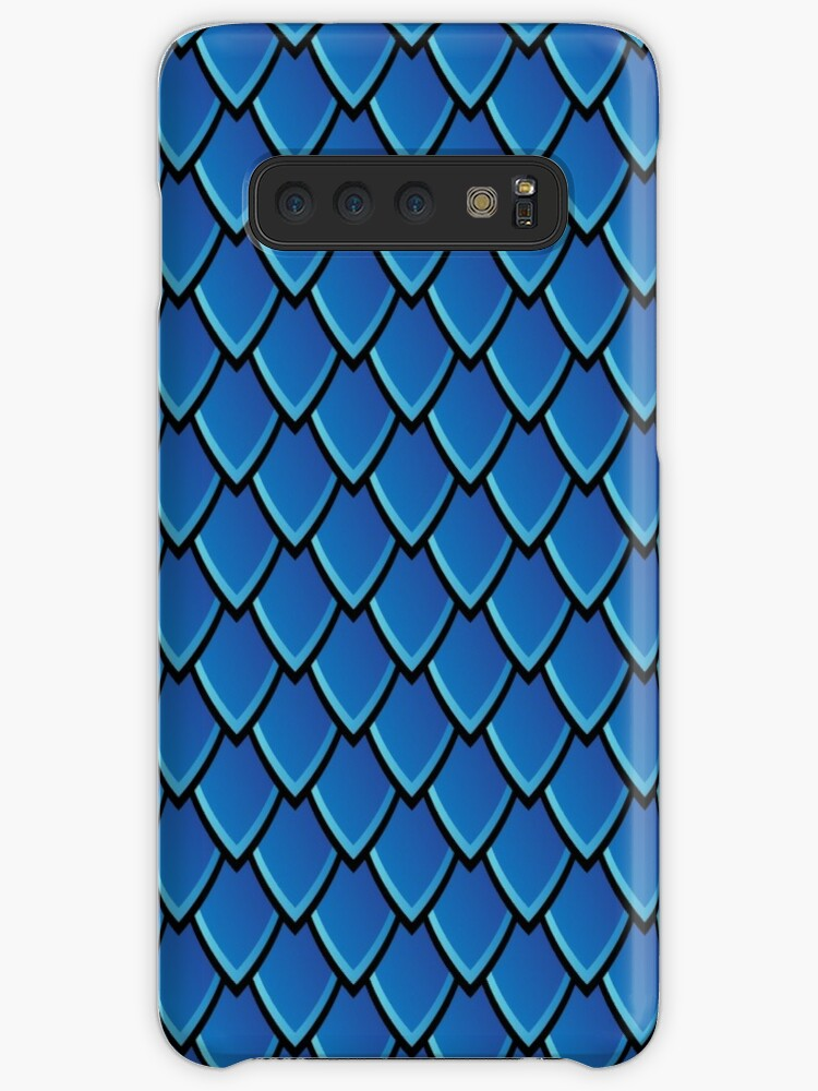 'Dragon Scales (Blue)' Case/Skin for Samsung Galaxy by Thomas Knapp