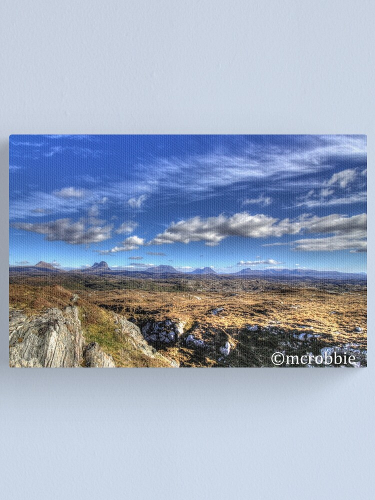 Alternate view of Assynt View Canvas Print