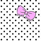 Pink Drippy Bow by Victoria Thorpe