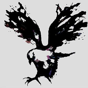 Inky Bird of Prey by mad-monkey