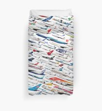 Airliners by The Art of Flying Duvet Cover