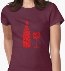 Wine Womens Fitted T-Shirt