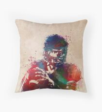 American football player 3 Throw Pillow