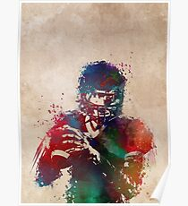American football player 3 Poster