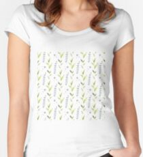 Watercolor abstract pattern Women's Fitted Scoop T-Shirt