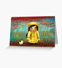 a walk in the rain Greeting Card