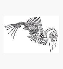 CREEPY FISH - Art By Kev G Photographic Print