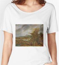 Stolen Art - Landscape with an Obelisk by Govert Flinck Women's Relaxed Fit T-Shirt