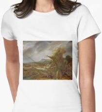 Stolen Art - Landscape with an Obelisk by Govert Flinck T-Shirt