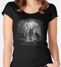 Classical Concerto in the Woods Women's Fitted Scoop T-Shirt
