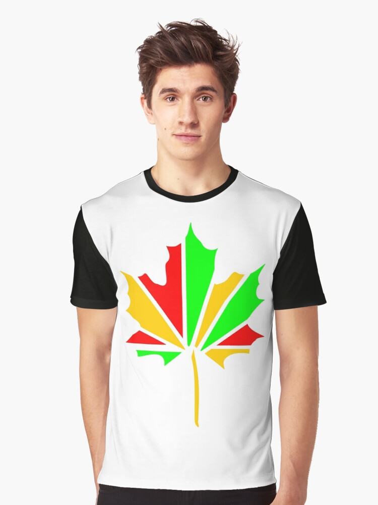 Maple Leaf Graphic T-Shirt Front