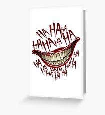 Joker greeting cards redbubble hahaha greeting card m4hsunfo