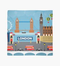 London, England - Skyline Illustration by Loose Petals Scarf