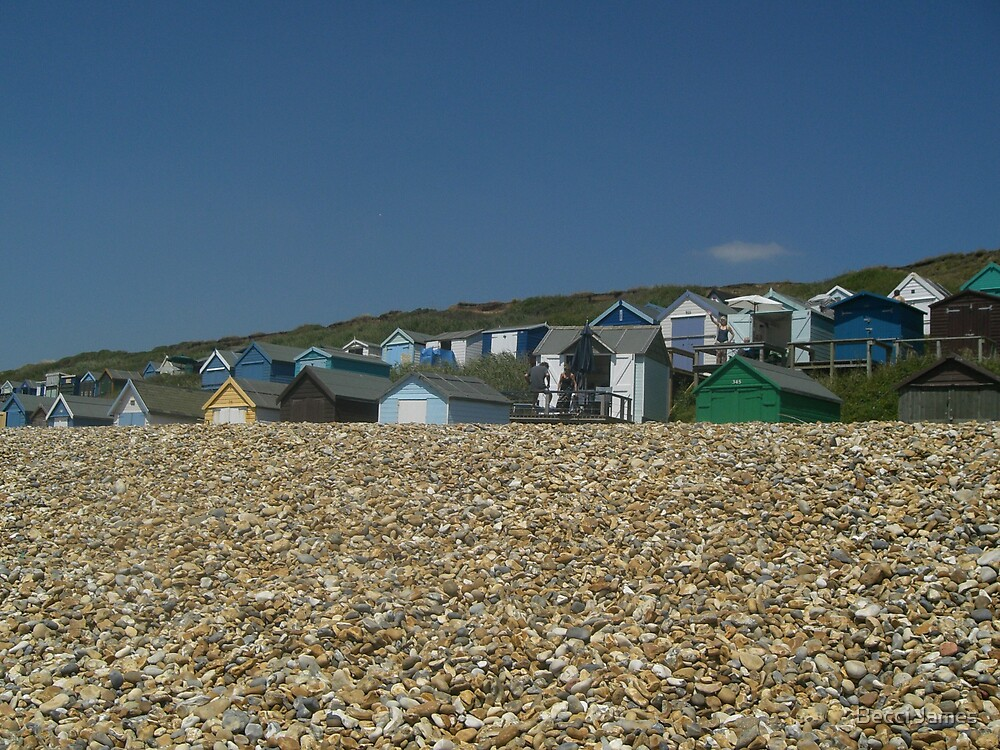 Beach huts by Becci James