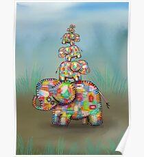 elephant jumble Poster