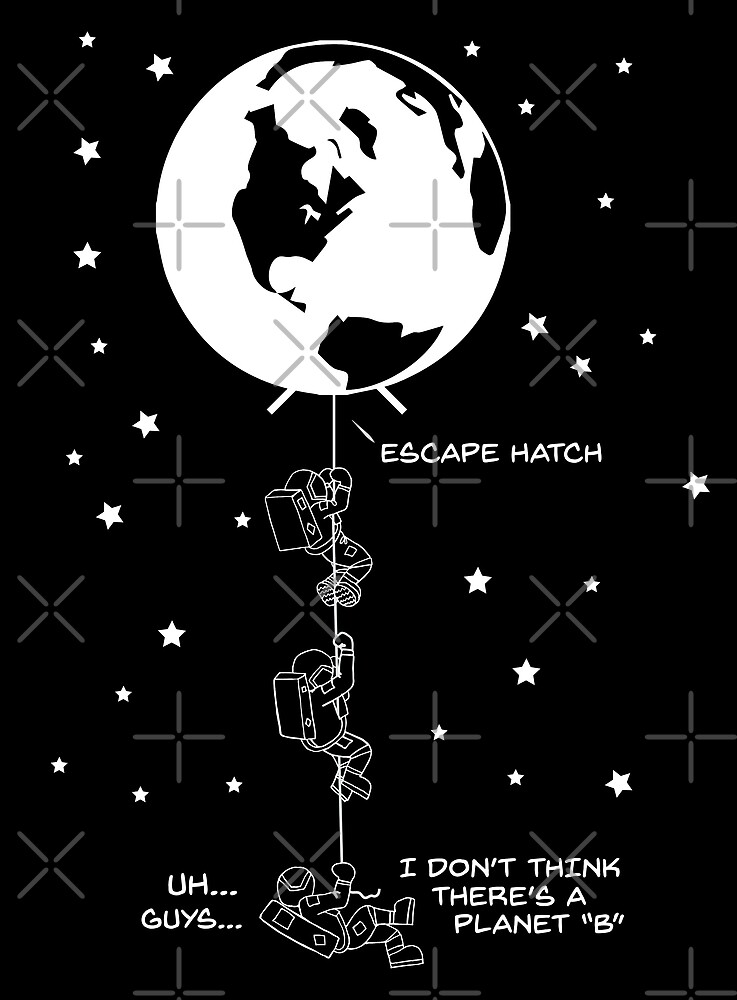 End of the Line - Earth Escape Hatch Astronauts by jitterfly