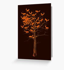 Blazing Fox Tree Greeting Card