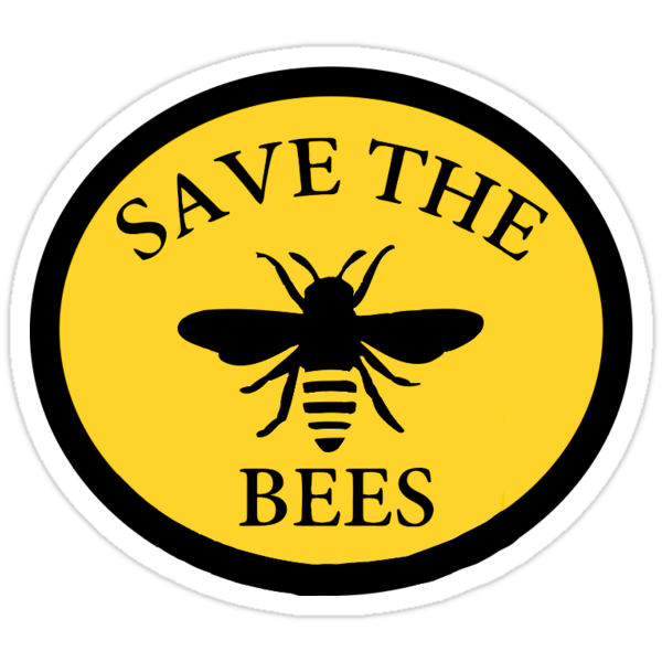 Quot Save The Bees Quot Stickers By Emmmaharvey Redbubble
