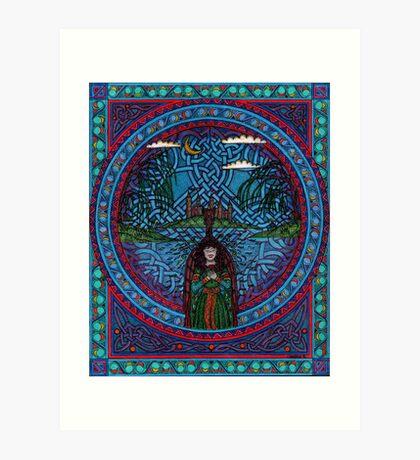 Fairwell fair lady of Challot Art Print