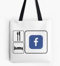 Food Sleep Facebook Tote Bag