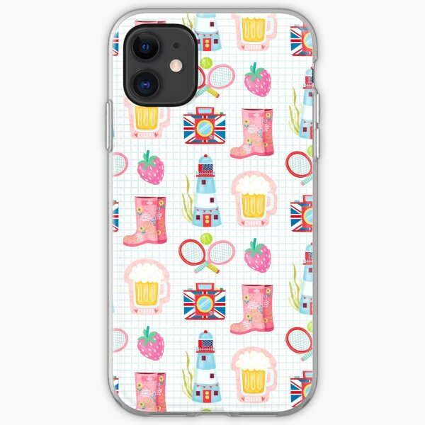 British Summer Time Pattern 2 iPhone Soft Case