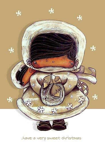 Christmas Card Snow Flower by Karin Taylor