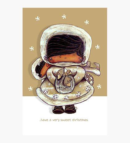 Christmas Card Snow Flower Photographic Print