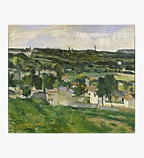 Stolen Art - View of Auvers-sur-Oise by Paul Cezanne Photographic Print