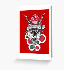 SATAN SANTA Greeting Card