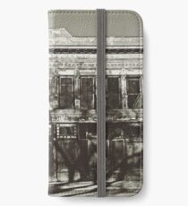 Abandoned Building, Las Vegas, NM - Sepia iPhone Wallet/Case/Skin