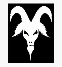 SILLOUETTE GOAT HEAD Photographic Print
