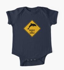 Respect the dolphins - Caution sign Kids Clothes