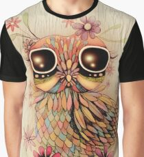 little flower owl Graphic T-Shirt