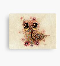 little flower owl Canvas Print