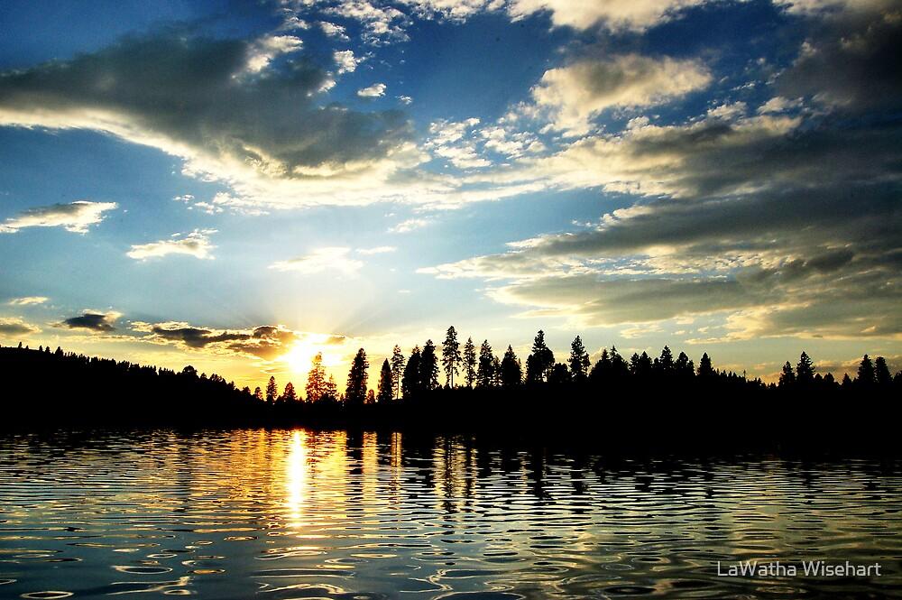 Sunset on White Mud Lake by LaWatha Wisehart