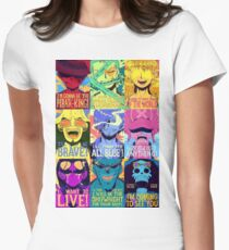 One piece Puzzle Womens Fitted T-Shirt