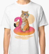 Chillin, Flamingo Tiger Classic T-Shirt