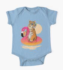 Chillin, Flamingo Tiger Kids Clothes