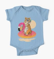 Chillin (Flamingo Tiger) One Piece - Short Sleeve