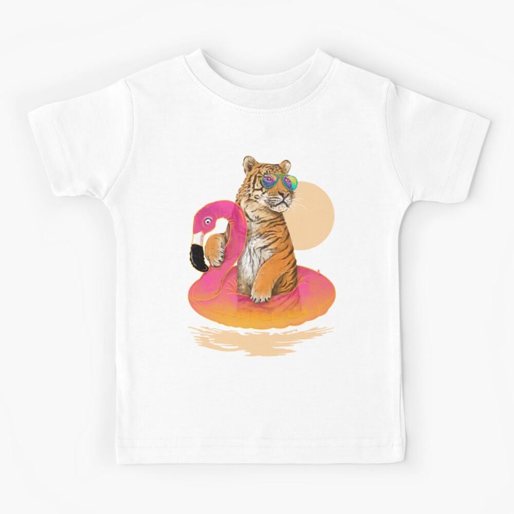 Chillin, tigre flamenco Camiseta para niños