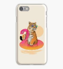 Chillin (Flamingo Tiger) iPhone Case/Skin