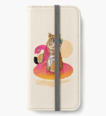 Chillin, Flamingo Tiger iPhone Wallet/Case/Skin