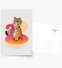 Chillin, Flamingo Tiger Postcards